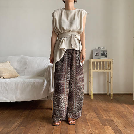 《予約販売》antique slit pants_np0224