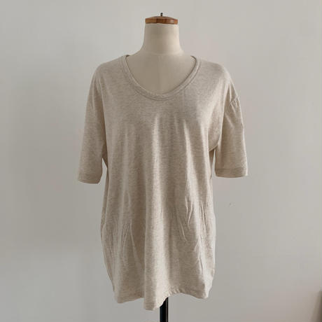 《予約販売》U neck basic tee/3 colors_nt0335