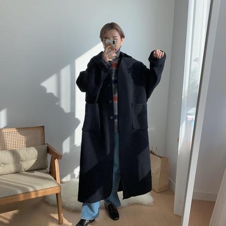 【NOKCHA original】wool over coat/deep navy_no0049