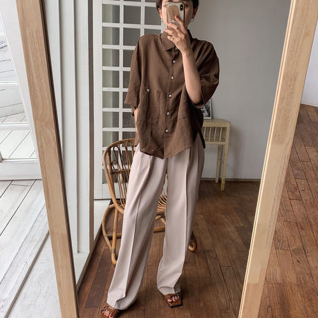《予約販売》texture daily wide pants/2colors_np0222