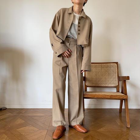 【nokcha original】half minimal jacket/beige_no0148