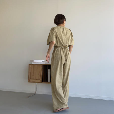【nokcha original】melange jumpsuit_np0438