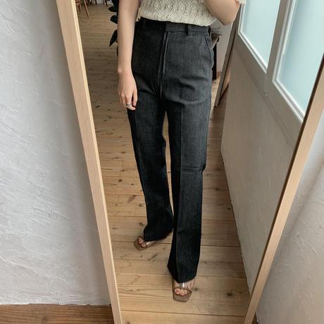 《予約販売》non wash slit long  jeans/2colors_np0191