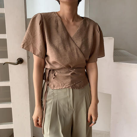 《予約販売》quality wrap blouse/2colors_nt0482