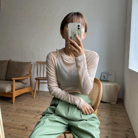 《予約販売》sheer lib unique tee/3colors_nt0816