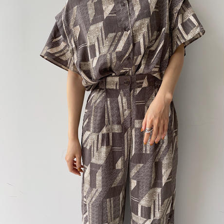 【nokcha original】vintage pattern pants_np0388