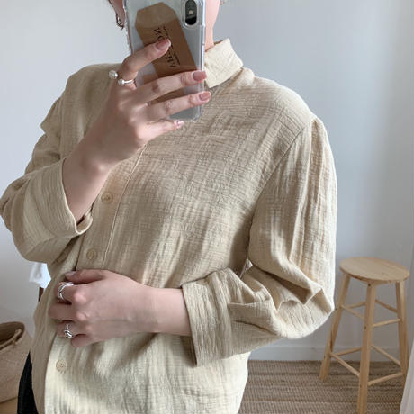 Jacquard shirt/2colors