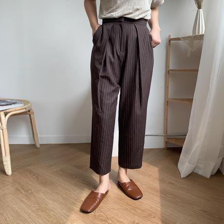 ✳︎予約販売✳︎stripe croped slacks/2colors