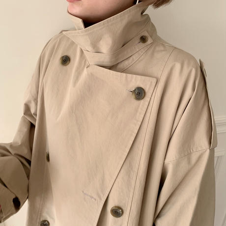 【NOKCHA  original】over trench coat /light beige_no0006