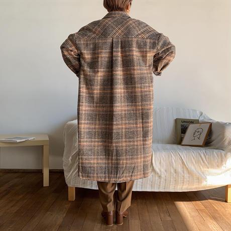 《予約販売》2way check long shirt_nt0681
