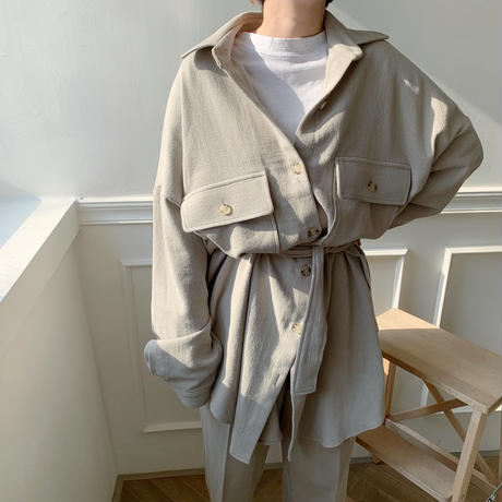 【NOKCHA  original】soft over jacket/light  khaki_no0008