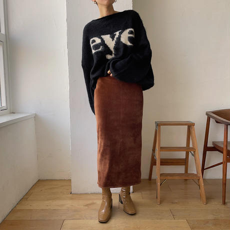 《予約販売》velvet daily long skirt/2colors_ns0054