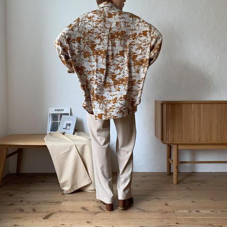 《予約販売》mosaic pattern silky blouse/2colors_nt0596