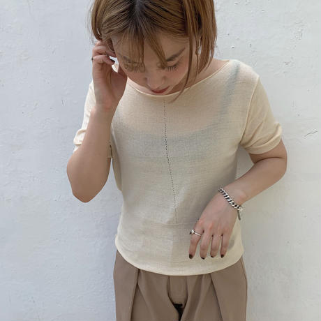 ✳︎予約販売✳︎boat neck knit/2colors_nt0023