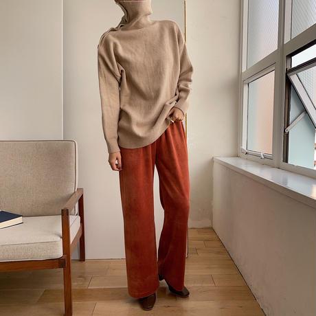 《予約販売》velvet easy daily pants/3colors_np0327