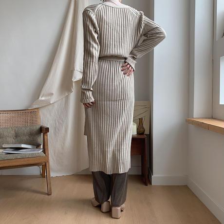 ✳︎予約販売✳︎lady knit long cardigan/2colors_nd0040