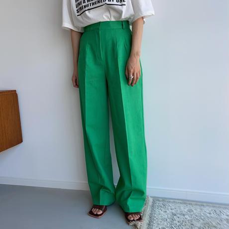《予約販売》green long pants _np0405