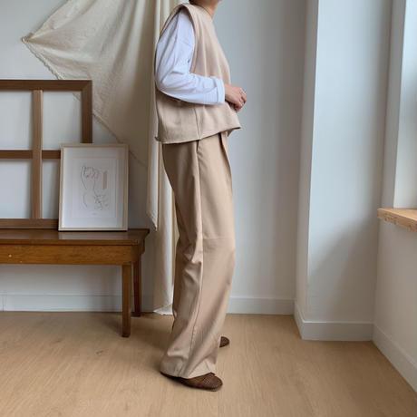 【NOKCHA original】minimal vest/beige_nt0069
