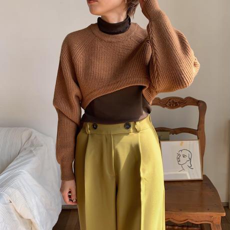 《予約販売》raglan minimal knit /2colors_nt0674