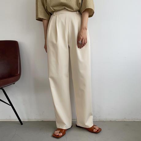 【nokcha original】silhouette pants/cream_np0402