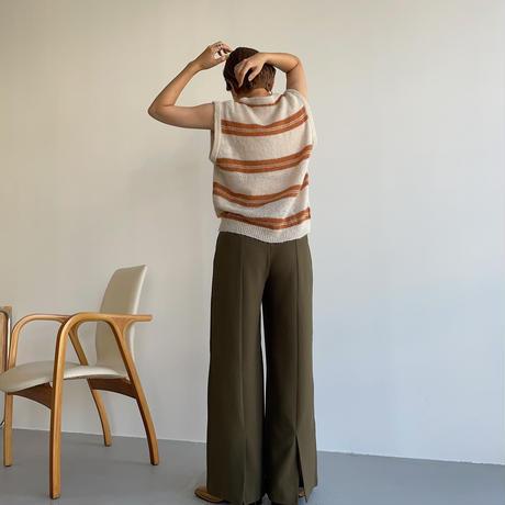《予約販売》border sheer knit_nt1053