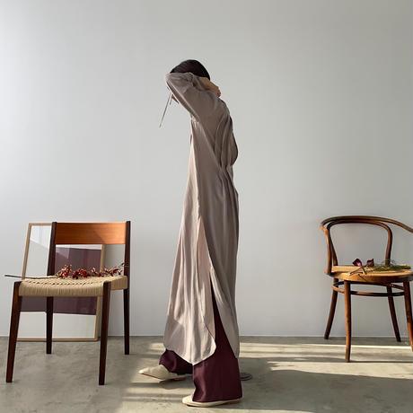 【nokcha original】back open pleats silky ops_nd0091