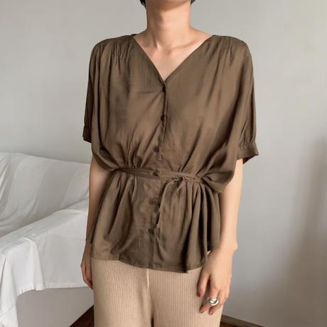 《予約販売》waist marc lady blouse/2colors_nt0470