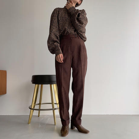 【nokcha original】roll up tapered pants/purple brown_np0461