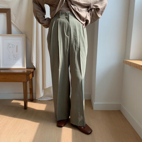 ✳︎予約販売✳︎material tuck pants/2colors_np0043
