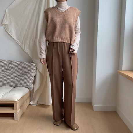 ✳︎予約販売✳︎alpaca  knit vest/3colors_nt0106