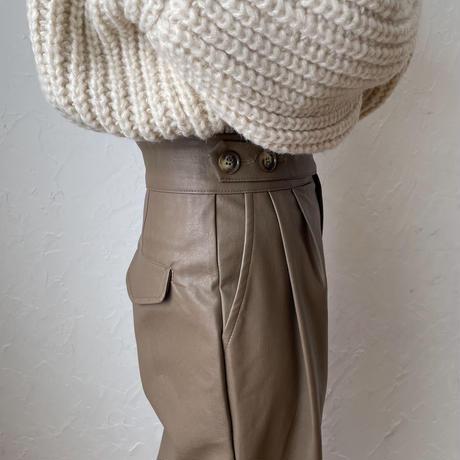 《予約販売》eco leather pants/2colors_np0330