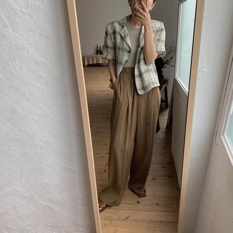 《予約販売》s/s check jacket/2colors_no0089