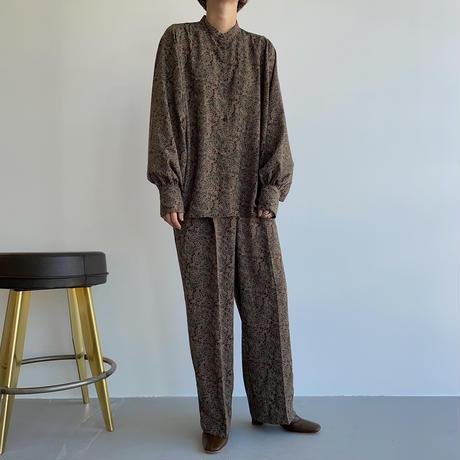 【nokcha original】pattern silhouette pants/2colors_np0450