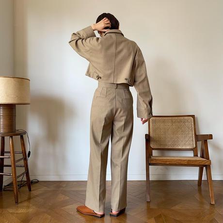 【nokcha original】straight long pants/beige_np0340