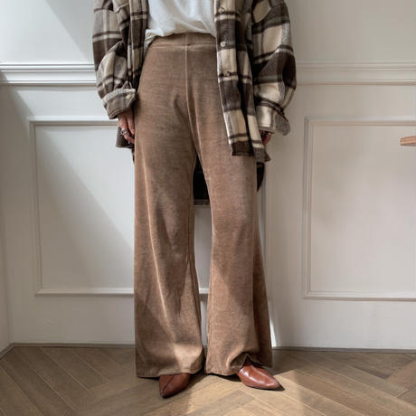 ✳︎予約販売✳︎velvet relaxy pants /2colors_np0069
