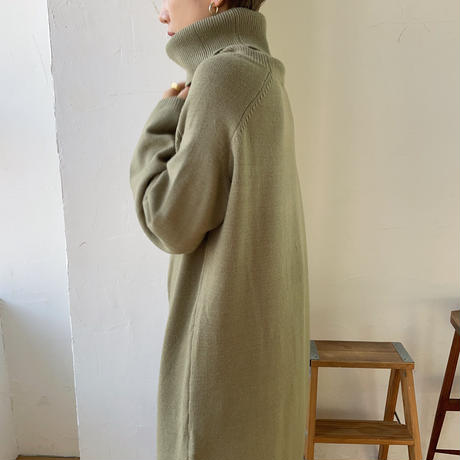 《予約販売》center slit long knit/2colors_nt0797