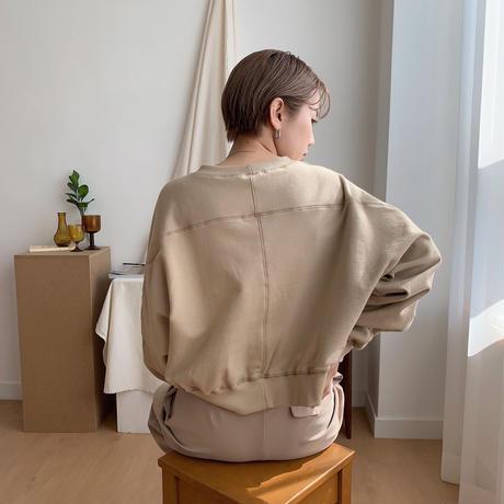 【nokcha original】stitch mtm/beige_nt0325