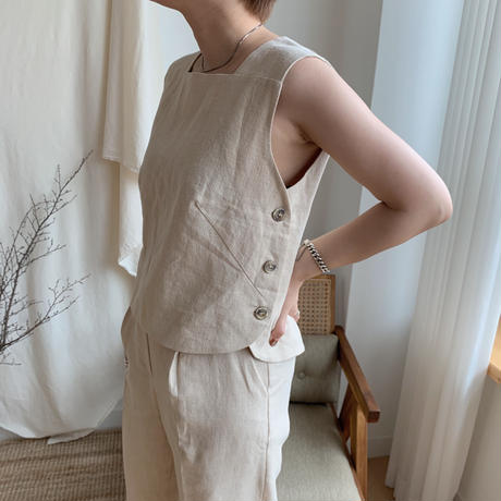 ✳︎予約販売✳︎ botan vest/2colors_nt0035