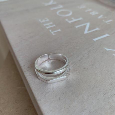*予約販売*silver925 double detail ring_na0055