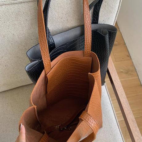 《予約販売》crocodile tote bag/2colors_na0197