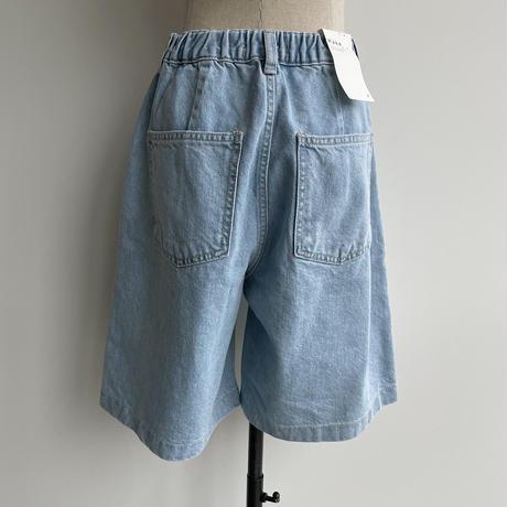《予約販売》pocket denim half pants/2colors_np0397