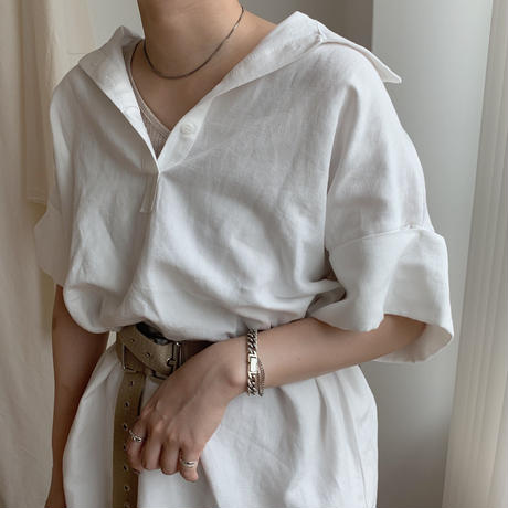 ✳︎予約販売✳︎linen over shirt/2colors