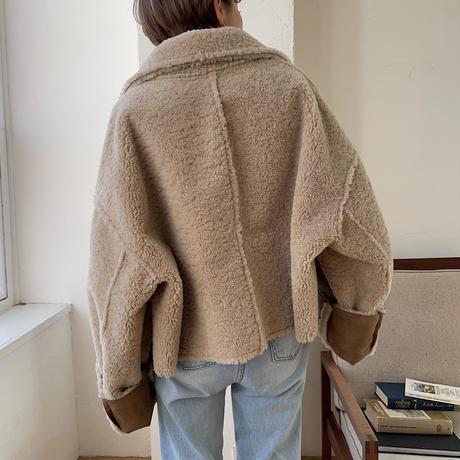 【nokcha original】reversible eco mustang jacket_no0127