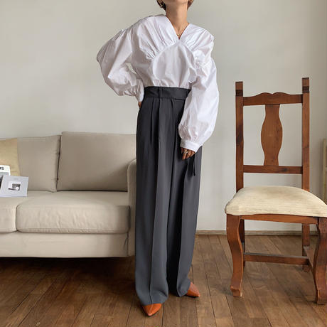 《予約販売》gather volume blouse/2colors_nt0582