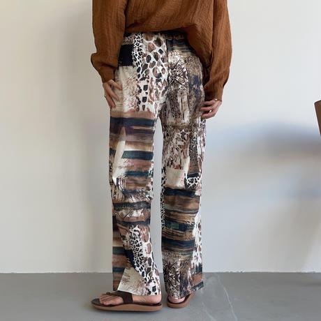 《予約販売》unique pattern pants_np0457