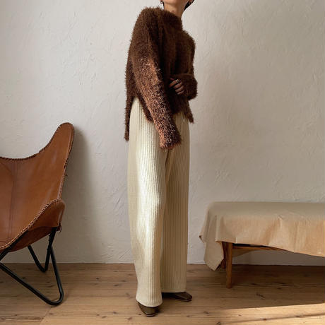 《予約販売》shaggy unbalance knit/2colors_nt0807