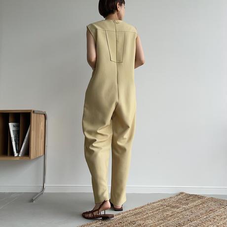 【nokcha original】quality lady jumpsuit/ yellow beige_np0422