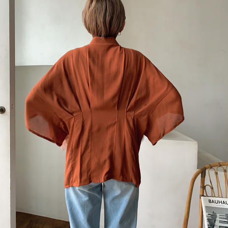 《予約販売》mannish gather  blouse/2color_nt0524