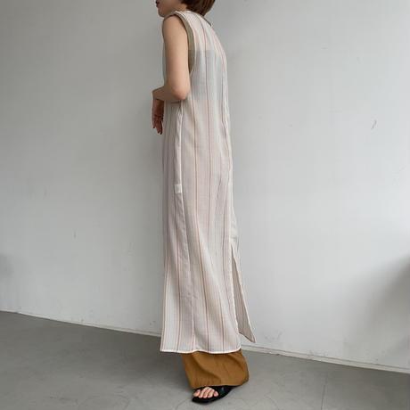 【nokcha original】mulch stripe sheer ops_nd0101