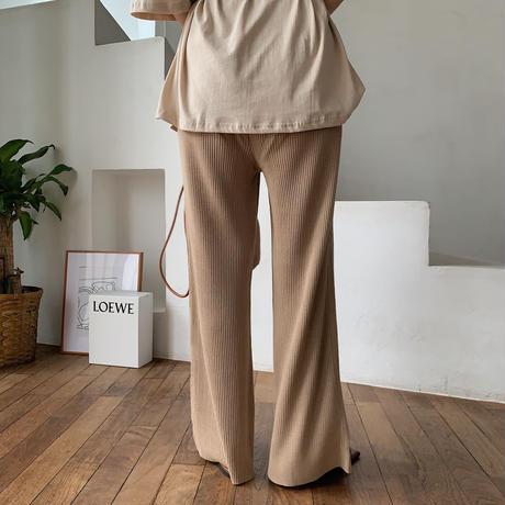 【nokcha original】quality linen knit pants/beige_np0211